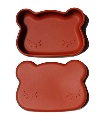 Jolie boîte à repas pour enfant en silicone rust de We might be tiny