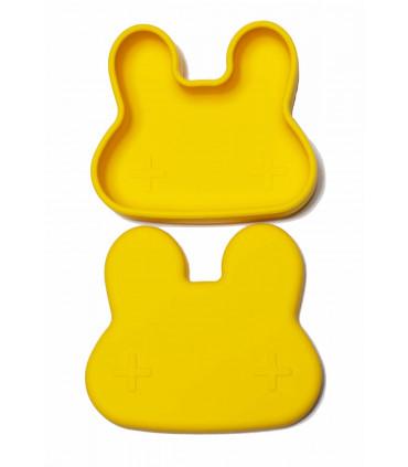 Jolie boîte à repas pour enfant en silicone jaune de We might be tiny