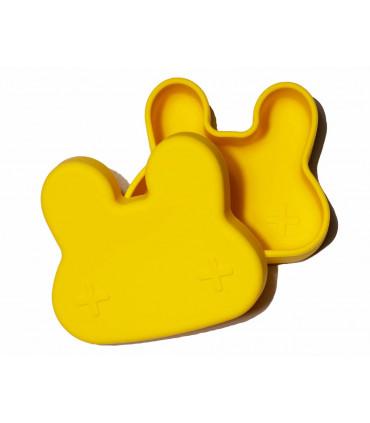 Boîte à déjeuner jaune en silicone pour enfant et bébé de We might be tiny