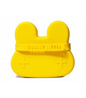 Boîte à déjeuner en silicone pour enfant et bébé de We might be tiny, jaune