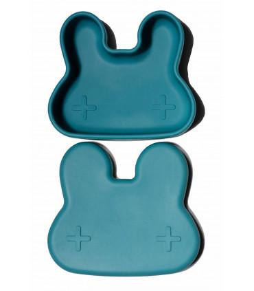 Jolie boîte à repas pour enfant en silicone bleu de We might be tiny