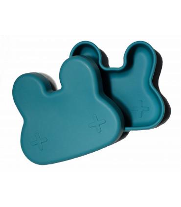 Boîte à déjeuner bleu en silicone pour enfant et bébé de We might be tiny