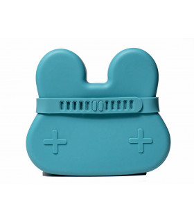 We might be tiny silicone snackie box for kids, blue