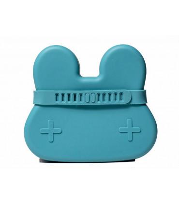 Boîte à déjeuner en silicone pour enfant et bébé de We might be tiny, bleu