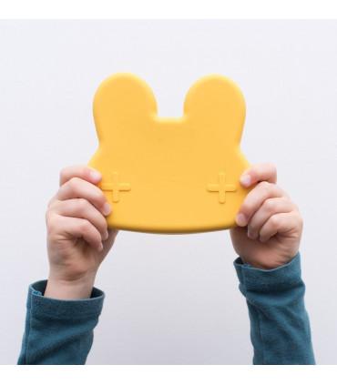 We might be tiny, jolie lunch box jaune en forme de lapin pour enfant en forme