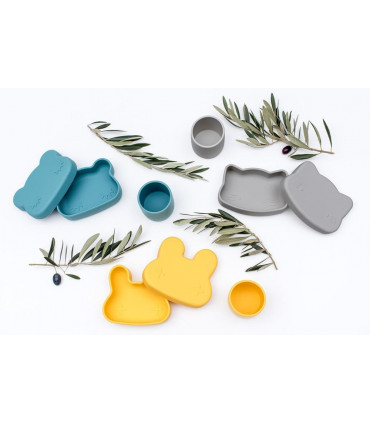 We might be tiny boites à lunch pour enfants, ours jaune, bleu, gris
