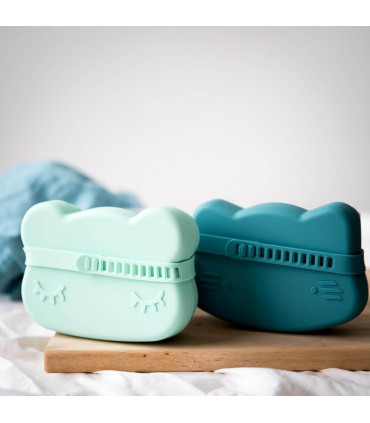 We might be tiny multifonctional lunch box for kids, minty green