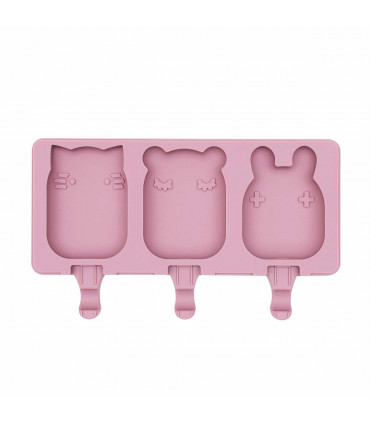 Icy mould for individual ice-creams made of dusty rose silicone, We might be tiny