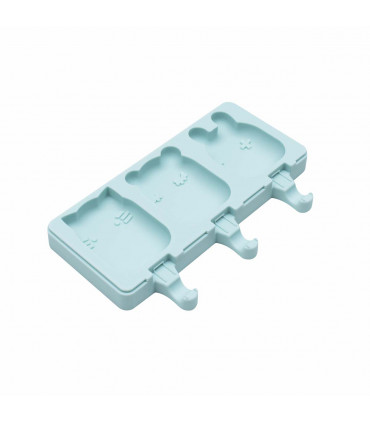 Individual ice-creams mould made of minty green silicone, We might be tiny
