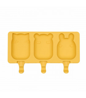 Icy mould for individual ice-creams made of yellow silicone, We might be tiny