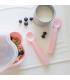 Baby Feedie Fork and Spoon Set - Powder Pink