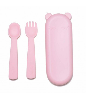 Feedie Fork and Spoon Set - Pink, We might be tiny