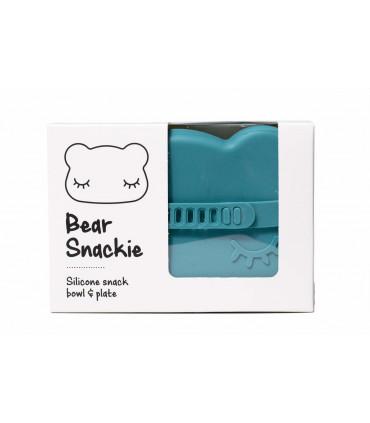 Boîte à goûter en silicone, bleu pour garçons et filles