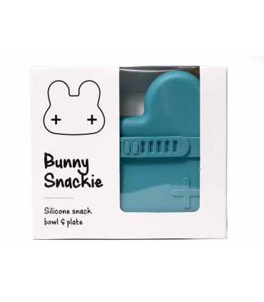 Blue dusk snackie box made of silicone, We might be tiny