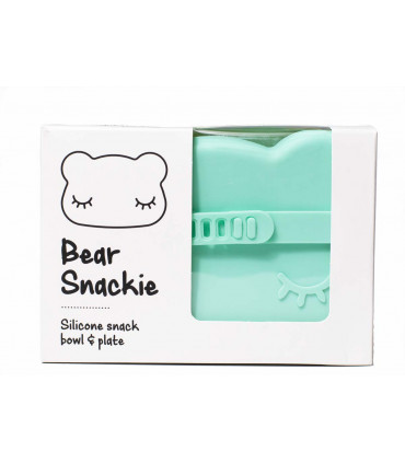 Snackie minty green box for kids, made of silicone, We might be tiny