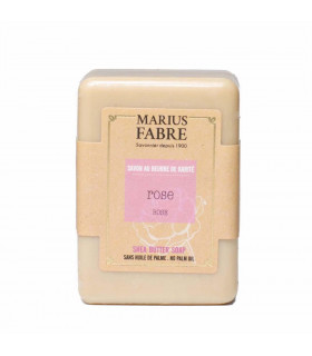 Solid bar soap shea butter & rose Marius Fabre