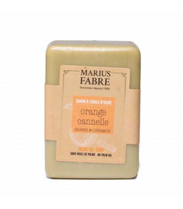 Savonnette Beurre de Karité, Parfumée aux Écorces d'Orange et Cannelle, Marius Fabre