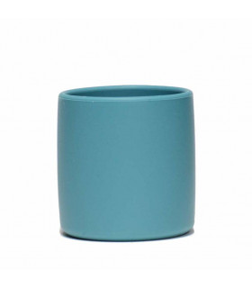 Silicone grip cup for babies, blue, We might be tiny, blue dusk