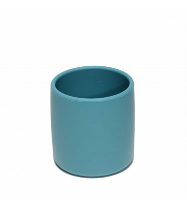 We might be tiny, baby cup of silicone, blue dusk