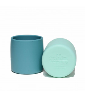 We might be tiny, baby & kids cup of silicone, blue dusk