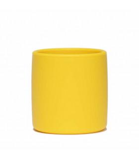 Gobelet pour enfant en silicone We might be tiny, jaune