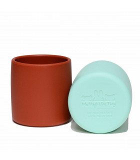 We might be tiny silicone and plastic free rust grip cup