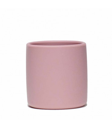 Silicone grip cup for babies, dusty pink, We might be tiny