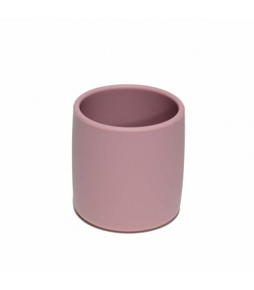 We might be tiny silicone and plastic free dusty rose grip cup