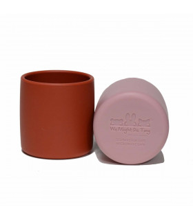 We might be tiny silicone and plastic free dusty rose grip cup for kids