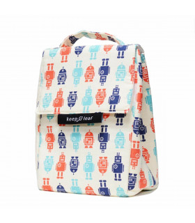 Insulated Lunch Bag for kid, Robots pattern, Keep Leaf