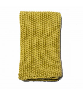 Iris Hantverk, chiffon naturel en lin et coton vert