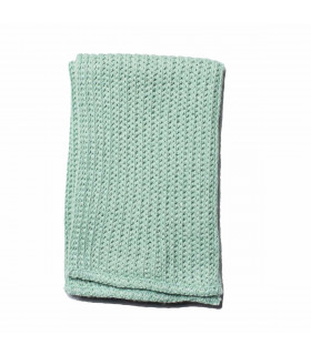 Iris Hantverk natural household cloth, Frosty Green