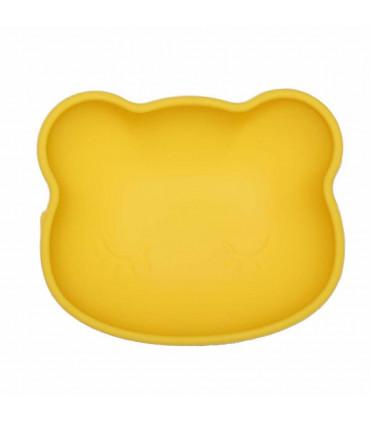 Bol à ventouse jaune avec un couvercle en silicone, We might be tiny