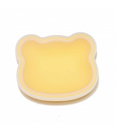 Bol à ventouse jaune pour bébé conçu en silicone alimentaire, We might be tiny