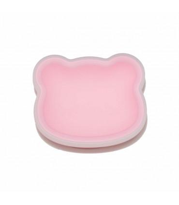 Bol à ventouse rose pour bébé conçu en silicone alimentaire, We might be tiny