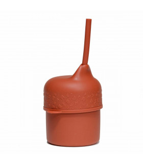 We Might Be Tiny, silicone lid for a cup, Rust