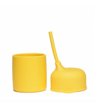 Bec anti-fuite pour un gobelet enfant, couleur jaune, We Might Be Tiny