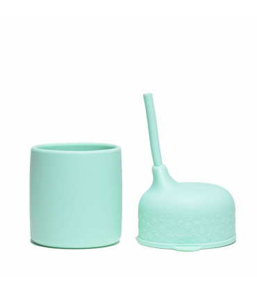 Perfect minty green, silicone cup lid from We Might Be Tiny