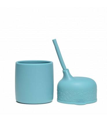 Couvercle gobelet avec une mini paille, We Might Be Tiny, Blue Dusk