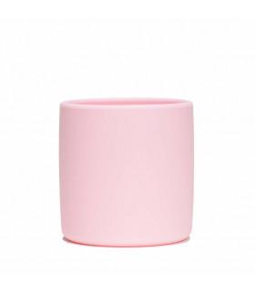 Gobelet en silicone pour bébé et enfant de We might be tiny, Powder Pink