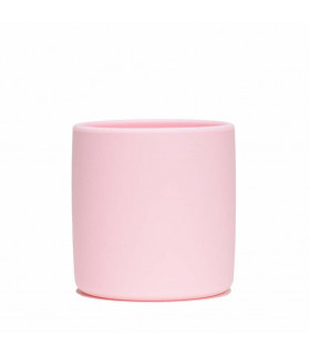 Silicone grip cup for babies, blue, We might be tiny, Powder Pink