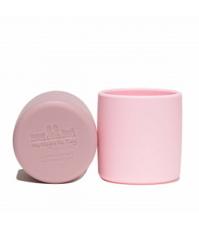 Two pink silicone grip cups for kids, We Might Be Tiny