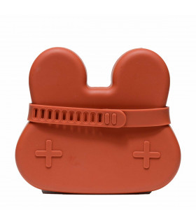 Boîte à déjeuner en silicone pour enfant et bébé de We Might Be Tiny, couleur Rust
