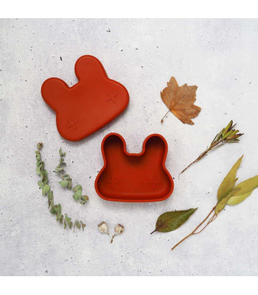 Bunny-shaped, silicone snackie box for kids, We Might Be Tiny