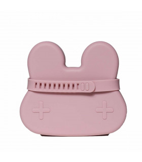 We might be tiny silicone snackie box for kids, dusty rose