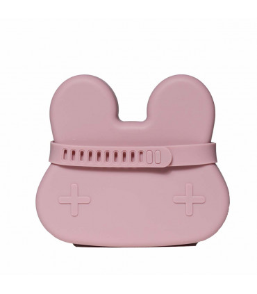 Boîte à déjeuner en silicone pour enfant et bébé de We might be tiny, vieux rose