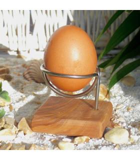 Olive wood eggs holder