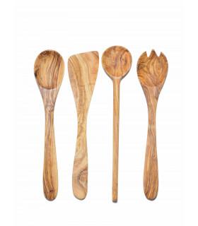 Olive Wood Essential Ustentil Set