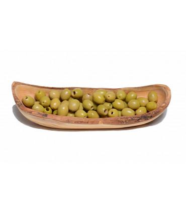 Rustic Olive Wood Bread Bowl - 30 cm