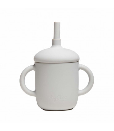 Silicone-made, Sippy cup with a straw, Pearl, My Chupi